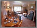 Typical living room at Henllys Hall Cottage Apartments