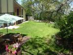 il giardino dal balcone