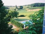View of Pool and surrounding countryside from Bedroom 1