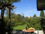 View of garden from terrace of Gelsomino