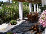 Casa Abuela Villa Rental - Shaded Terrace