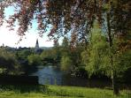 Amble along the river and enjoy the scenery of picture perfect Comrie