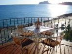 Stunning views from the private terrace