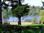 View of lake from the Farm house garden