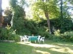 Summer morning in the Garden  Surrounded by Trees and Birdsong