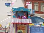 Traditional Punch and Judy on Viking Bay