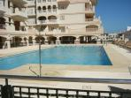 Communal pool for residents use only.  Situated on first floor of apartment building