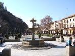 Fountain square in Granada