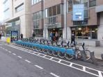 Spar ans City Bikes accross the street