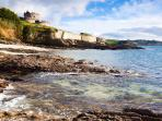 View of Castle at Coastal Walk in St Mawes