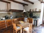 The oak beamed kitchen