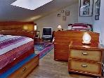 .Attic room. 4 beds 0.90x2 m TV/DVD/VCR .