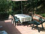 Large Sun Terrace on the same level as the Villa Apartment. Private garden below.