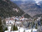 Valfrejus Village from the gondola