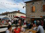 Our local village has lively night markets in summer with food, wine, music and dancing