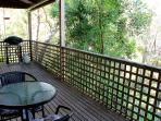 Astley verandah with gate to secure your furry loved ones.