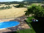 The swimmingpool of the village