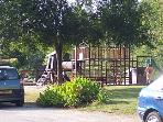 Playground at Sauze Vaussais Plan d'eau, near the crazy golf and seasonal snack bar.