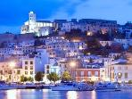 Ibiza town lighting up!