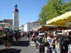 Market day in nearby Sauze Vaussais (Saturdays)