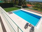 from upper terrace to golf courses and sea views