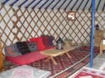 Inside Sunshine Yurt