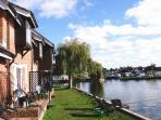 Bure Cottage Patio & Riverside Lawn