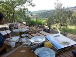 Creative holidays with painting classes at Ancora del Chianti Eco - Friendly B&B in Tuscany