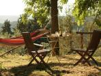 Enjoy lige with a glass of good wine at sunset at Ancora del Chianti Eco - Friendly B&B in Tusca