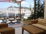 Twelve for dinner on the landscaped and furnished terrace