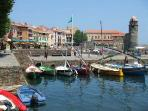 15 min drive chic Collioure's with its wonderful Sunday morning market. then try the Cuisine & Art