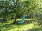 Tobogan dans le parc, Villa Victoria à Gréasque
