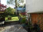 The patio and garden