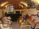 The splendid tavern made of facing bricks