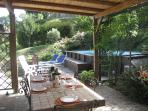 3 bedroom Tuscan villa in medieval village of Sillico with lovely private swimming pool and terrace