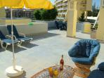 Large 700 sq ft  Private Terrace