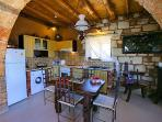 Traditional yet fully equipped Kitchen & dining area