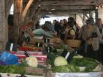 local market at Cozes