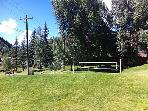Volleyball court on site