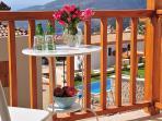 Enjoy drinks on the balcony
