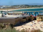 Batata Beach with Meia praia in background