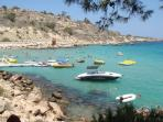 Konnos Bay. One of at least 10 beaches within a 10 min drive from Armonia.