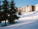 Snow scene from Pamporovo, Bulgaria 2012.