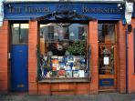 The world famous travel book shop is 2 min away