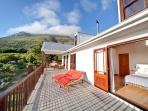 House at Longbeach, Noordhoek, Cape Town - Terrace and master bedroom