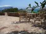 terrace with view on Tavolara bay