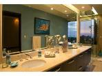 Master bathroom with access to outdoor jacuzzi located on the terrace.