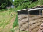 Birdhide in garden. Previous sightings include green woodpecker, hobby, bullfinch, deer.