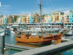 The colourful Albufeira Marina