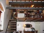 living - loft area
